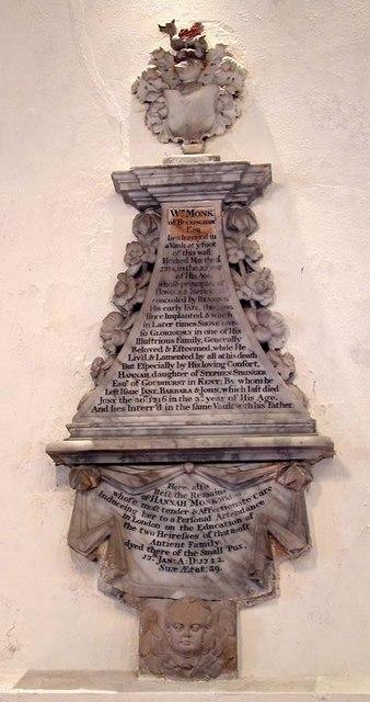 St Nicholas, Old Shoreham, Sussex - Wall monument
