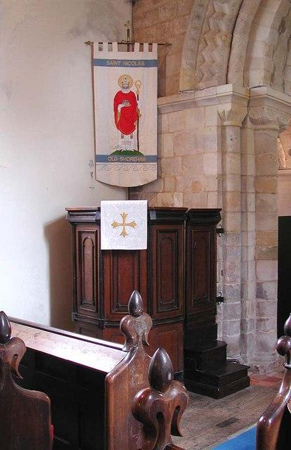 St Nicholas, Old Shoreham, Sussex - Pulpit