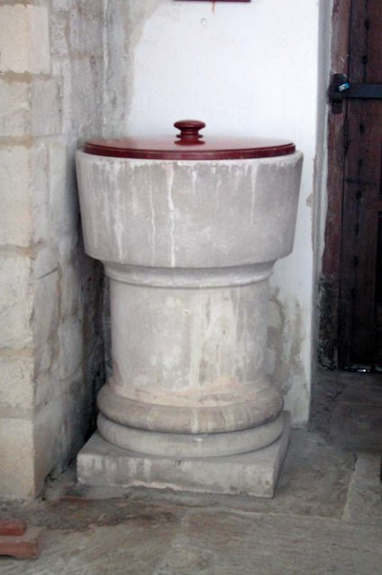 St Nicholas, Bramber, Sussex - Font