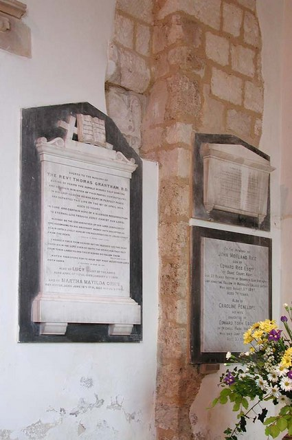 St Nicholas, Bramber, Sussex - Wall monument