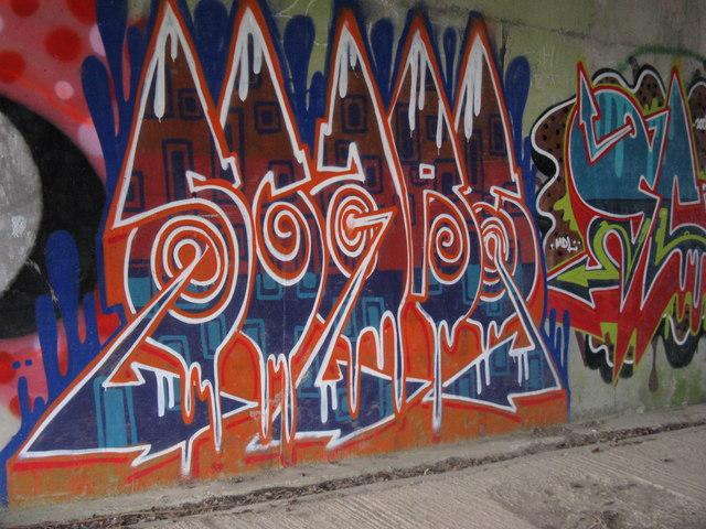 Graffiti on bridge walls