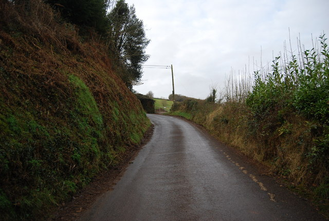 Steep hill out of Kingsbridge, Luxborough