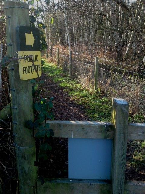 Unmarked Public Footpath