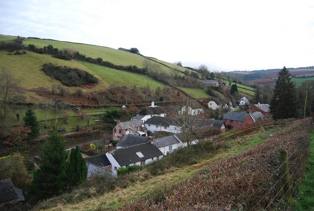 Kingsbridge, Luxborough nestled in the valley