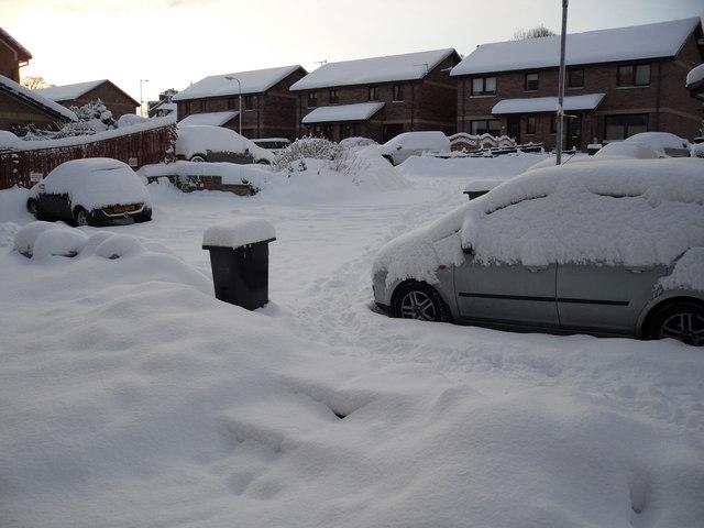 A snow bound Woodlea, Galashiels