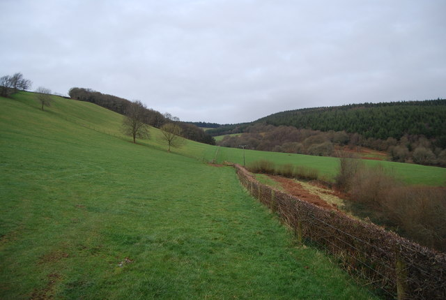 Valley to the north of Luxborough