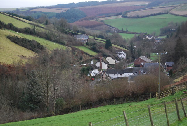 View south to Luxborough