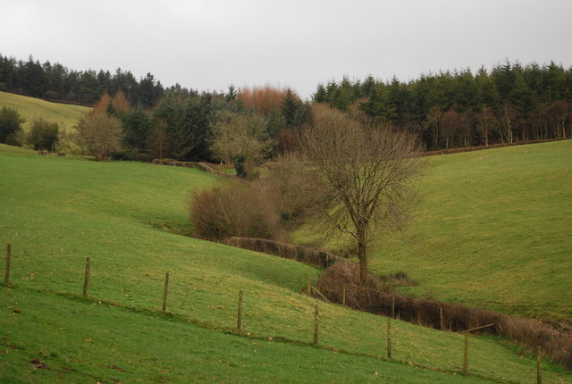 V-Shaped valley north of Luxborough