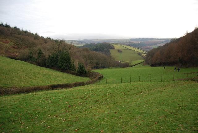 View south between Monkham Wood & Perley Wood