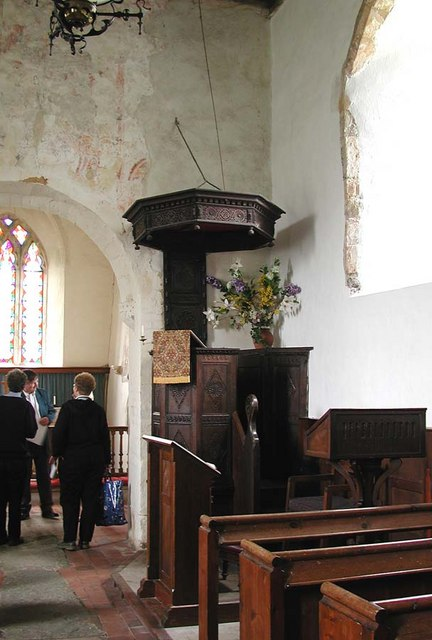 St Botolph, Botolphs, Sussex - Pulpit