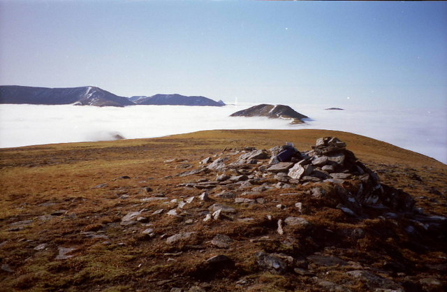 Looking south west from Moruisg's summit cairn