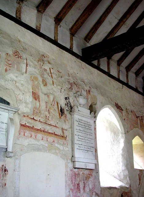 Coombes Parish Church, Sussex - Wall painting