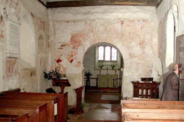 Coombes Parish Church, Sussex - East end