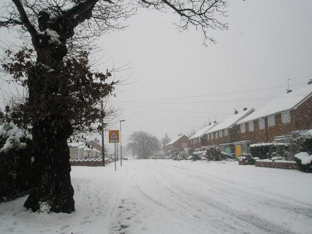 A snowy Hooks Lane