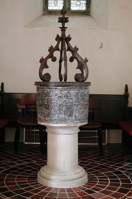 Church of the Transfiguration, Pyecombe, Sussex - Font