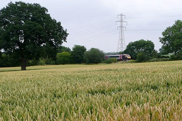 Basingstoke to Reading railway line
