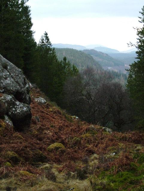 Gleann Liath from near Bonagour's Cave