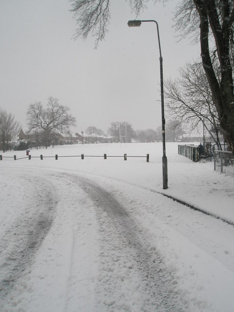 Looking from Hooks lane towards the recreation ground