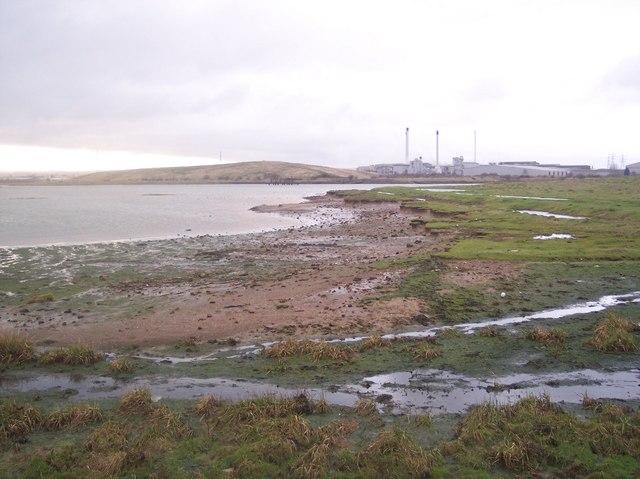 Mudflats near Elmley Hills