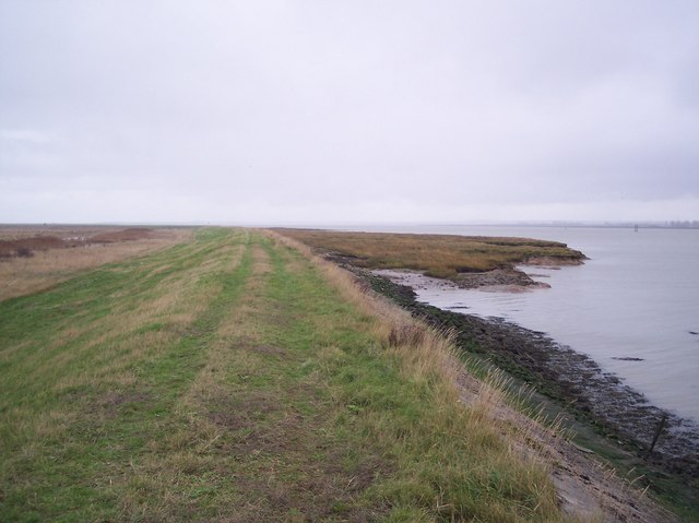 Sea Wall beside the Elmley Marshes