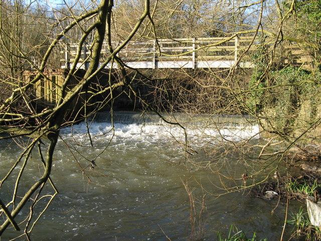 Footbridge rebuilt in 2006 over the River Arun