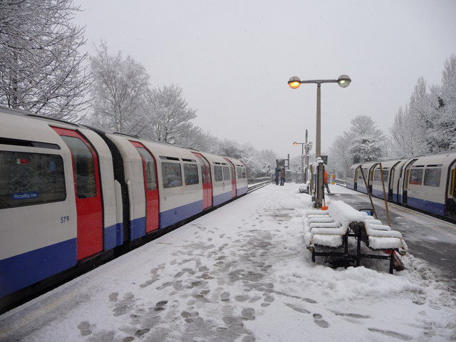 Oakwood Station in the snow