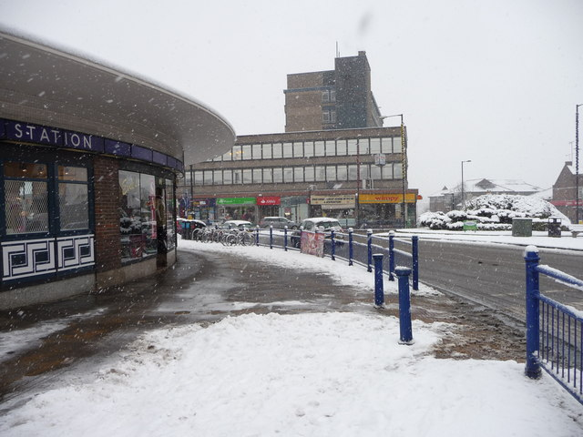 Southgate in the snow