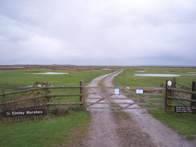 Entrance to Elmley Marshes Nature Reserve