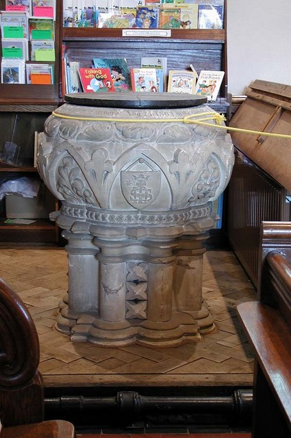 All Saints, Patcham, Sussex - Font