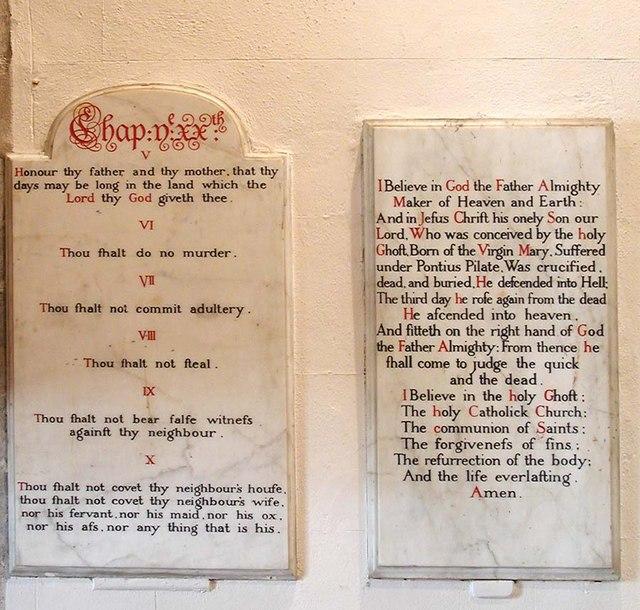 All Saints, Patcham, Sussex - Decalogue