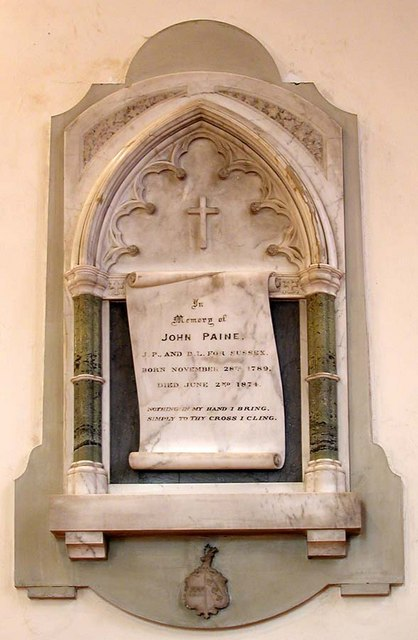 All Saints, Patcham, Sussex - Wall monument