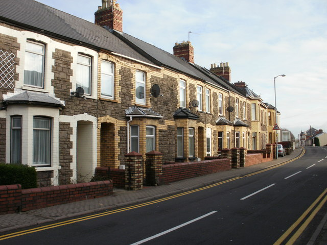 Terraced houses, Victoria Street, Old Cwmbran