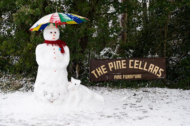 A proper snowman on Jackman's Hill