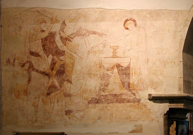 St Peter, Preston, Sussex - Wall painting