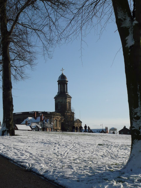 St Chad's in the snow