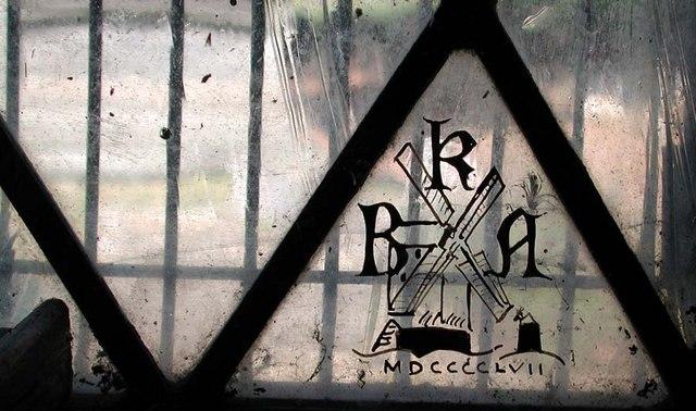 St Peter, Preston, Sussex - Window signature