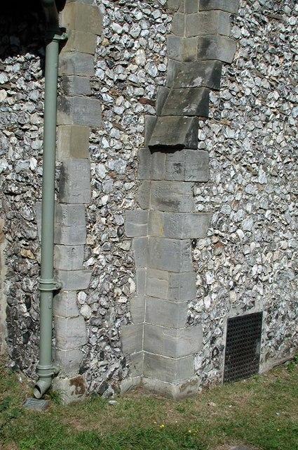 St Peter, Preston, Sussex - Exterior detail