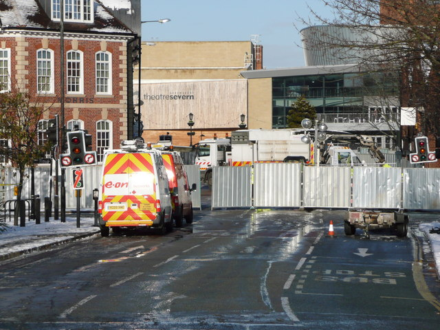 Road closed after gas explosion on 3rd January 2010