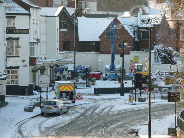 Bridge Street after gas explosion on 3rd January 2010