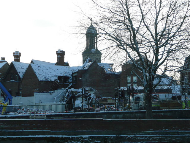 Aftermath of gas explosion in Bridge Street on 3rd January 2010