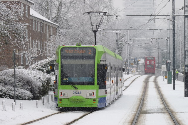 Croydon Trams in the Snow (5)