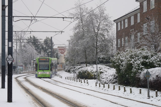 Croydon Trams in the Snow (7)