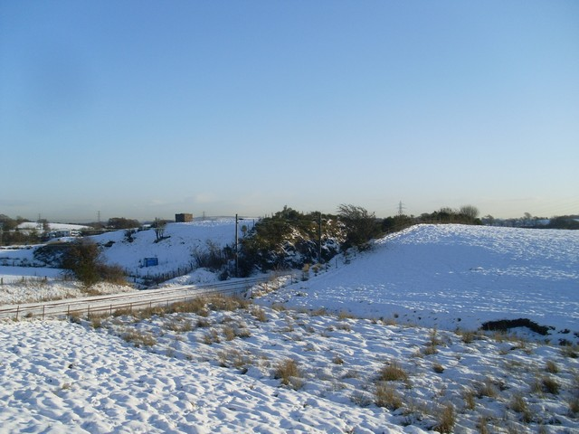Deep cut embankment in the Barrhead countryside