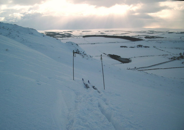 Deep drift on the west flank of Traprain Law
