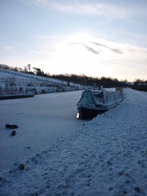 Frozen Lancaster  Canal