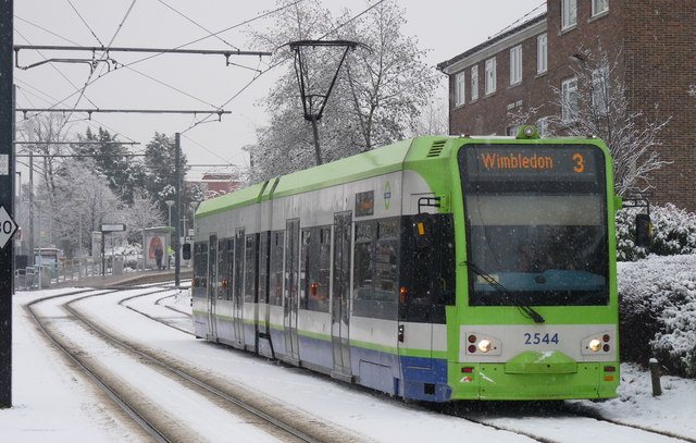 Croydon Trams in the Snow (8)