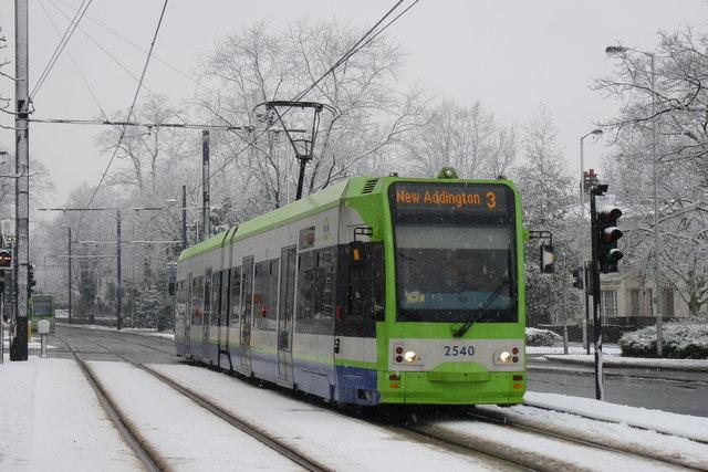 Croydon Trams in the Snow (9)