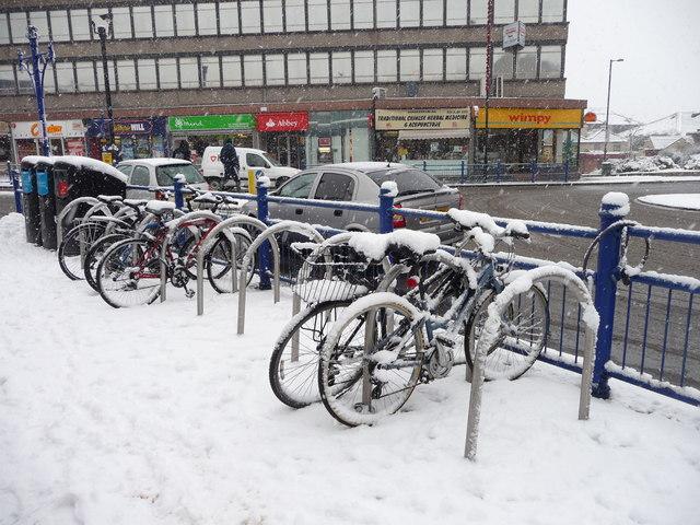 Cycle Rack at Southgate Circus, London N14