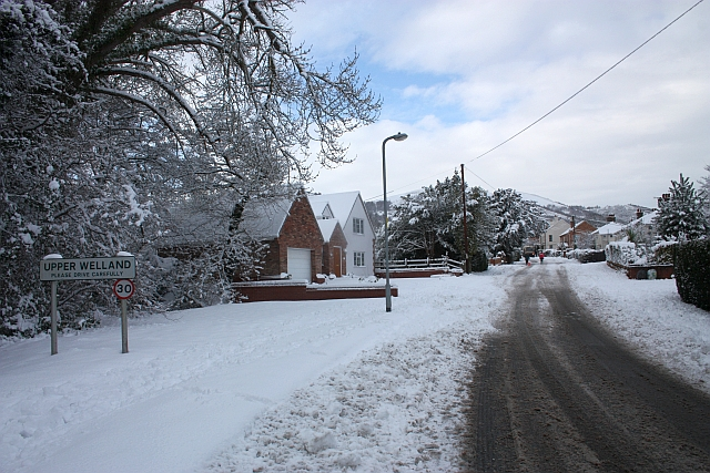 Upper Welland Road in the snow
