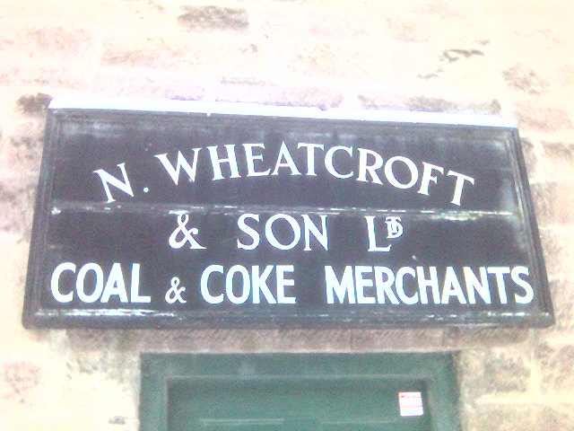 Sign of former Coal Merchants at Cromford Wharf, Cromford, Derbyshire